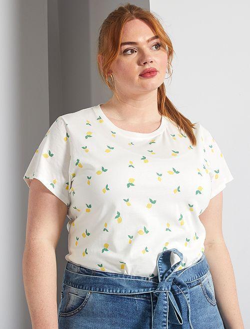 T-shirt basique éco-conception                                                                                                                                                                                         citron