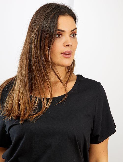 T-shirt basique éco-conception                                                                                                                                                         noir