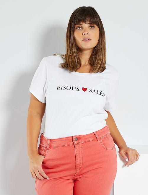 T-shirt basique éco-conçu                                                                                                     bisous