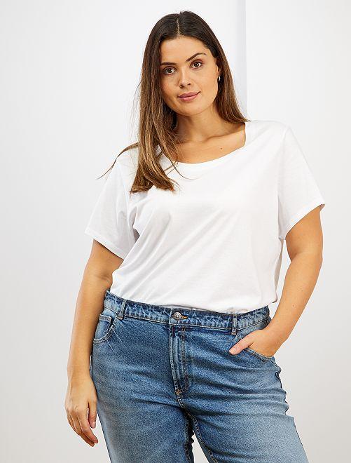 T-shirt basique éco-conçu                                                                                                                 blanc