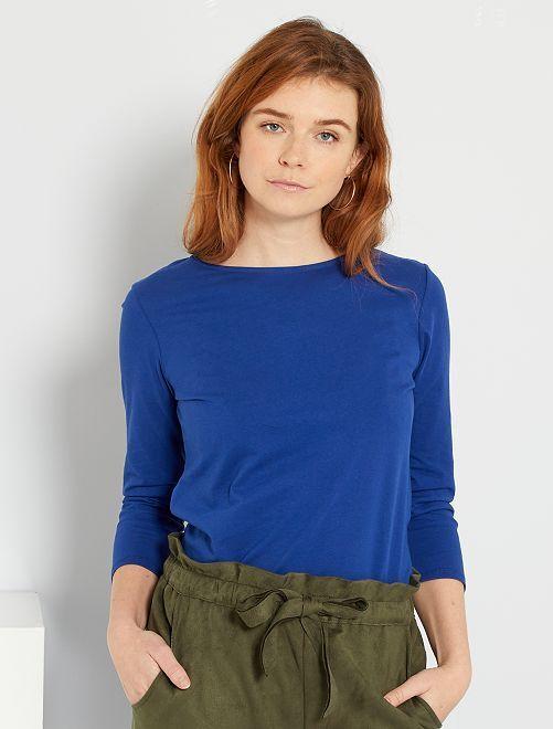 T-shirt basique éco-conçu                                                                                                                                                                                                     bleu océan