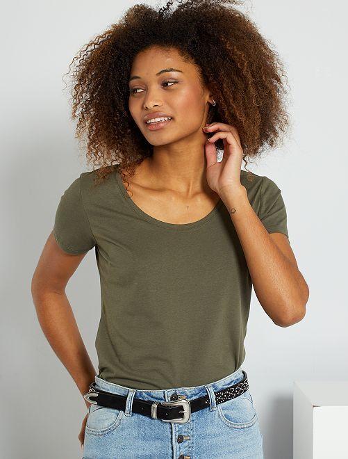 T-shirt basique éco-conçu                                                                                                                             kaki