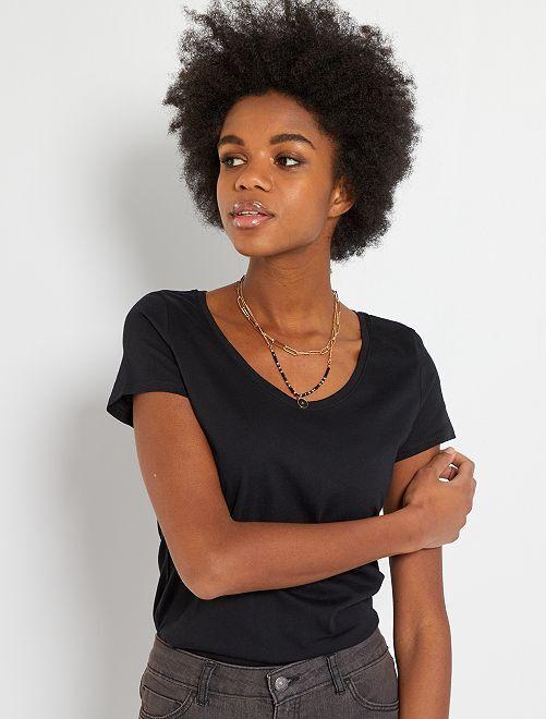 T-shirt basique éco-conçu                                                                                                                             noir