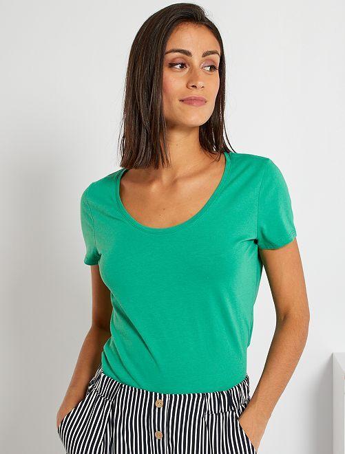 T-shirt basique éco-conçu                                                                                                                             vert