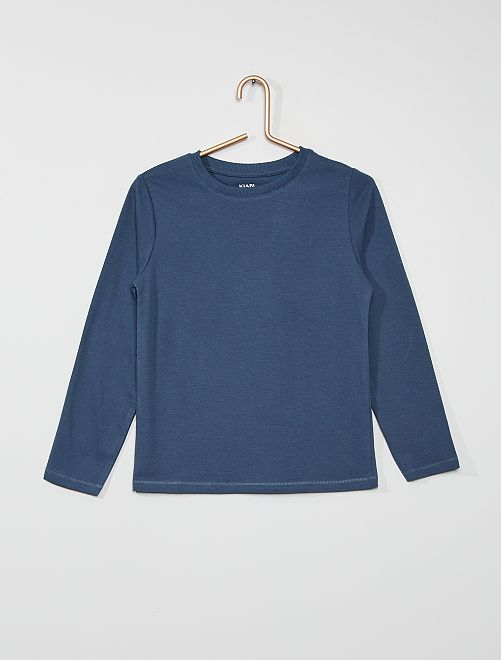 T-shirt basique en coton                                                                             bleu