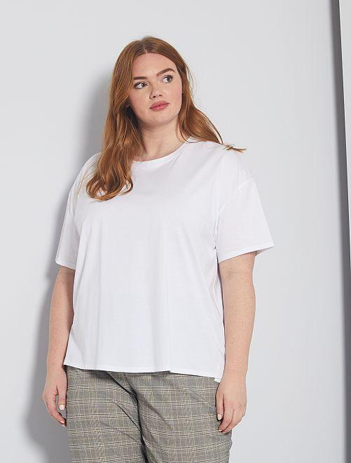 T-shirt basique oversize                                                                             blanc