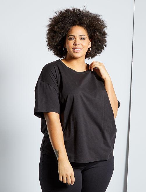 T-shirt basique oversize                                                                             noir