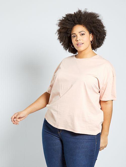 T-shirt basique oversize                                                                             rose