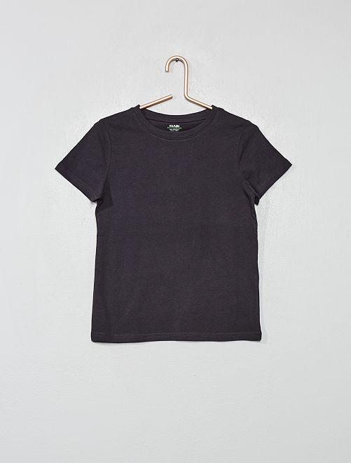 T-shirt basique uni                                                                                         gris foncé