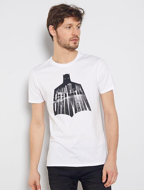 T-shirt 'Batman'                             blanc