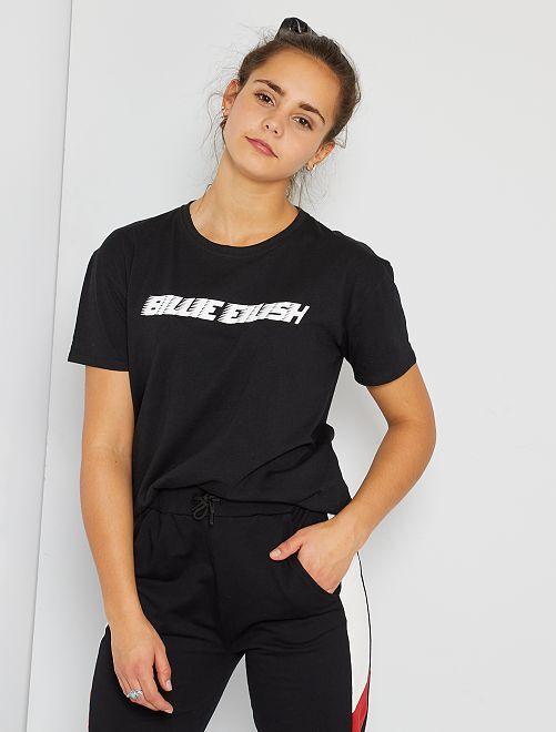 T-shirt 'Billie Eilish'                             noir