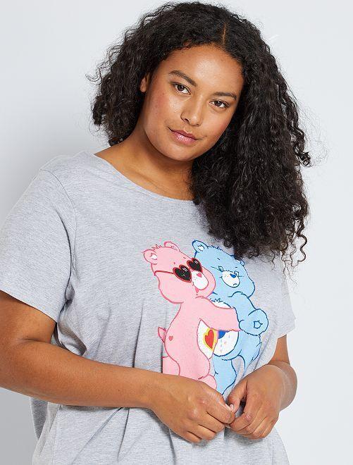 T-shirt 'Bisounours'                             gris