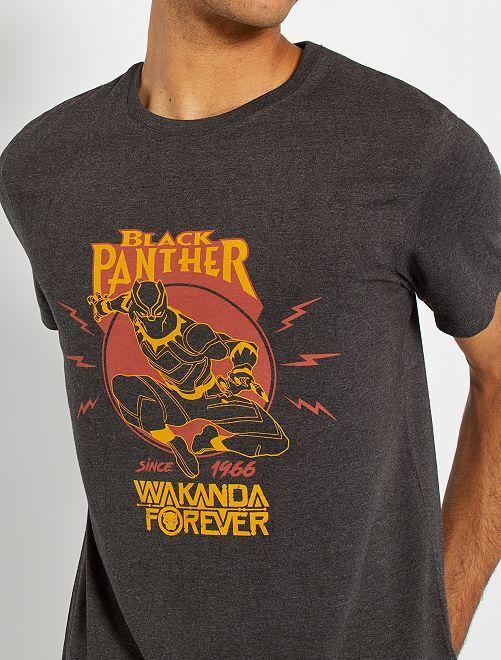 T-shirt 'Black Panther'                             gris chiné