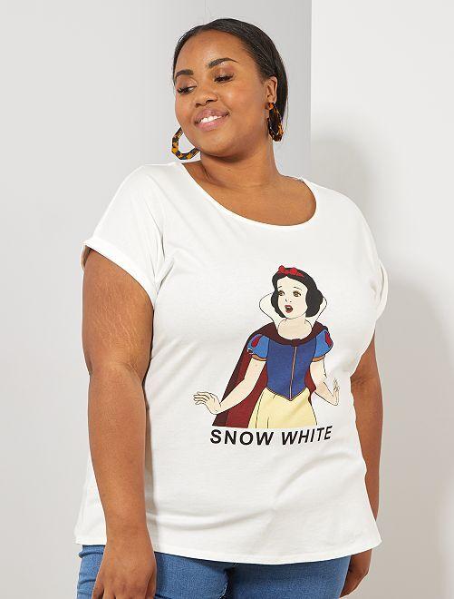 T-shirt 'Blanche-Neige'                                                                                                                                                     blanc Grande taille femme