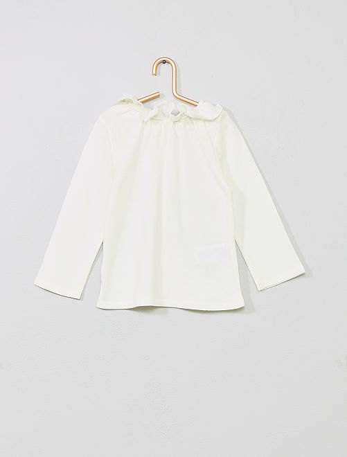 T-shirt boutonné                                         blanc