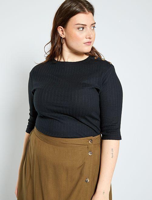 T-shirt boutons épaule                                         noir