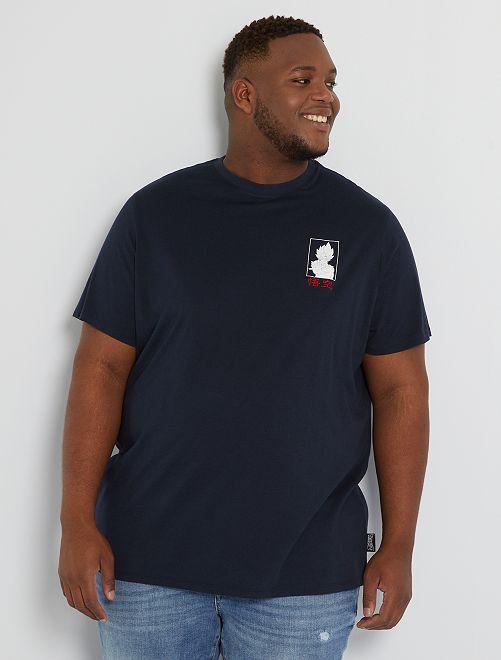 T-shirt brodé 'Dragon Ball Z'                             bleu marine
