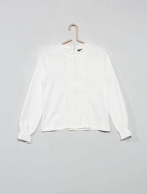 T-shirt brodé                                                                             écru