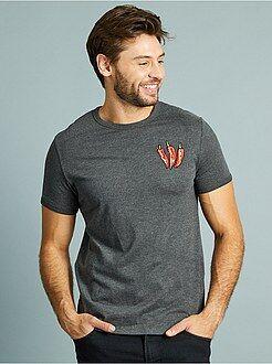 T-shirt imprimé - T-shirt brodé 'piment' coupe ajustée