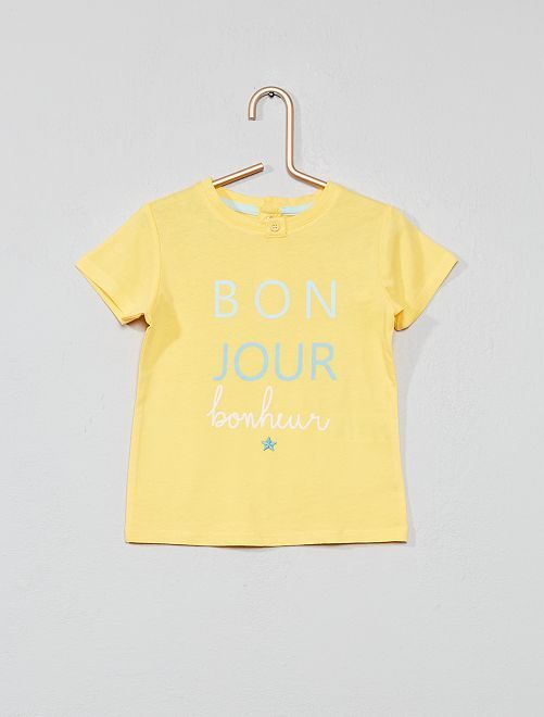 T-shirt brodé 'porte-bonheur'                                                     jaune