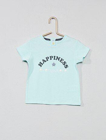 45e117ad7384e T-shirt brodé  porte-bonheur  - Kiabi