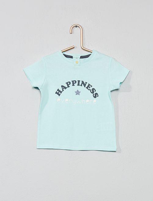 T-shirt brodé 'porte-bonheur'                                                     turquoise Bébé fille