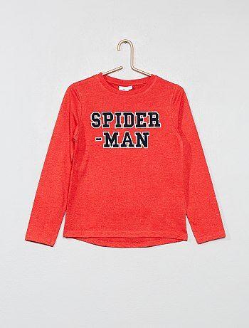 T shirt brodé `Spider man`