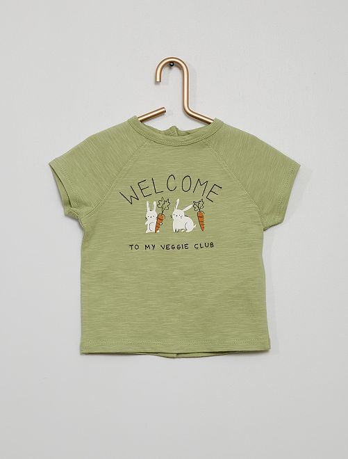 T-shirt brodé                             vert
