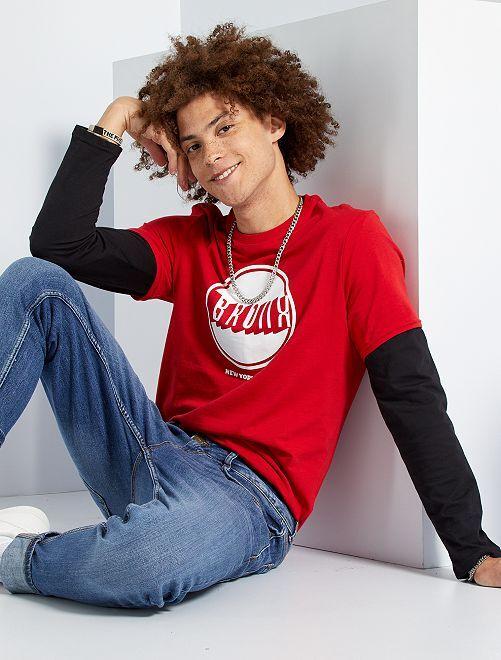 T-shirt 'Bronx'                                                                                                                                         ROUGE