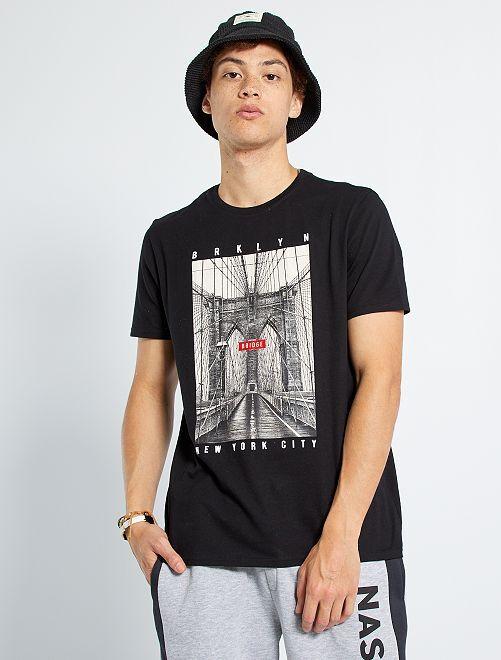 T-shirt 'Brooklyn'                             noir