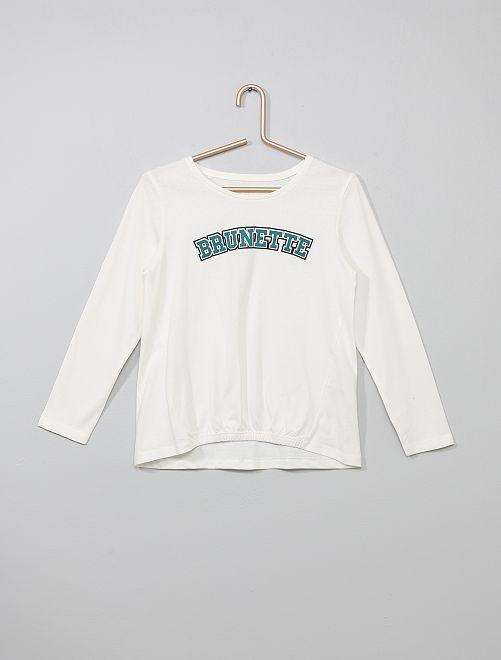 T-shirt 'Brunette'                                                                                                     blanc brunette