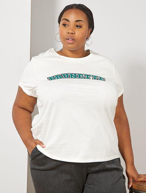 T-shirt 'Brunette'                                         brunette Grande taille femme