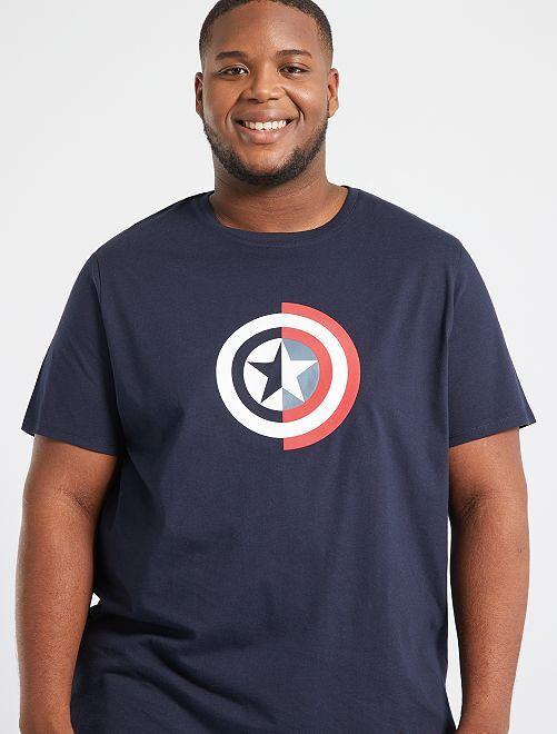 T-shirt 'Marvel'                     bleu marine/bouclier