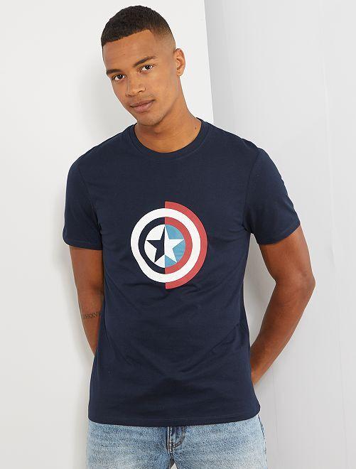 T-shirt 'Iron Man'                                                         bleu nuit