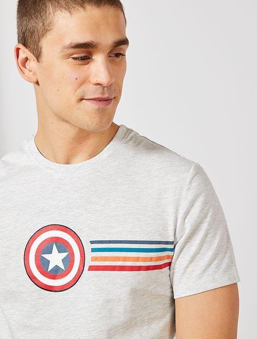 T-shirt 'Captain America'                                                     gris clair Captain America Homme