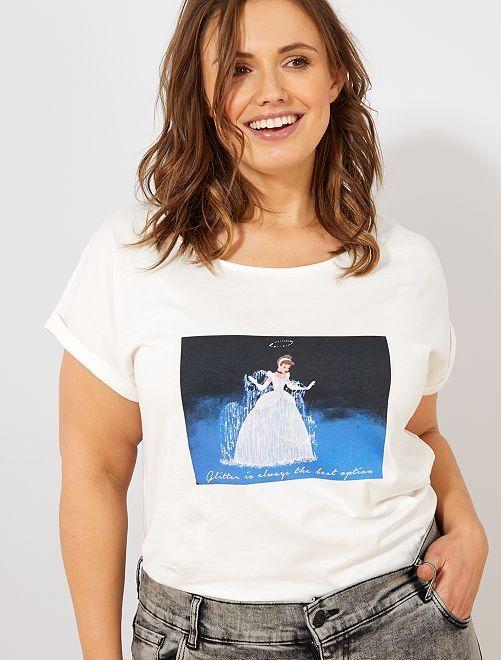T-shirt 'Minnie'                                                                                                                                 blanc cendrillon