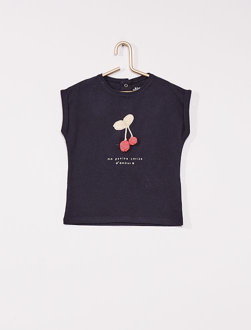 T-shirt 'cerise' éco-conçu                                                     marine
