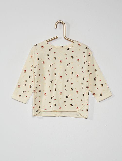 T-shirt 'champignons'                                                     blanc
