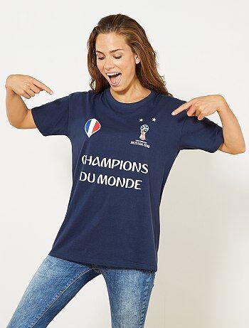Femme du 34 au 48 - T-shirt 'Champion du Monde 2018' - Kiabi
