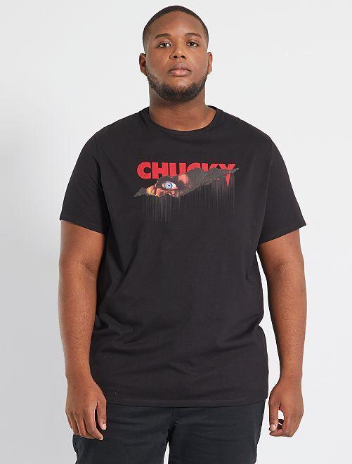 T-shirt 'Chucky'                             noir