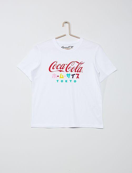 T-shirt 'Coca Cola'                             blanc
