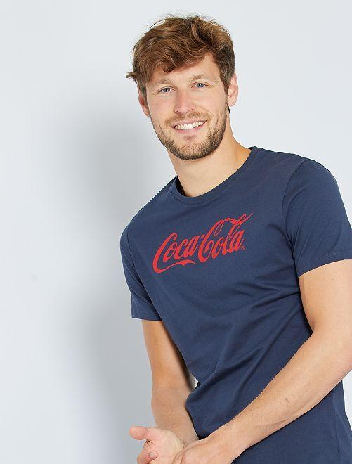 T-shirt 'Coca-Cola'                             bleu marine