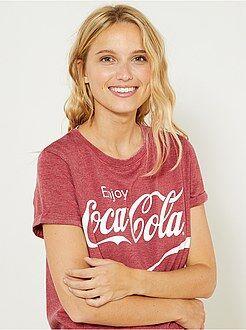 T-shirt, débardeur - T-shirt 'Coca Cola' - Kiabi