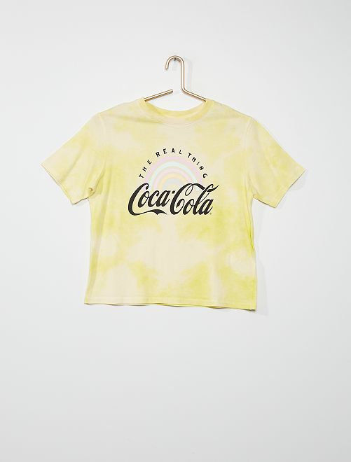 T-shirt 'Coca-Cola' tie and dye                             jaune