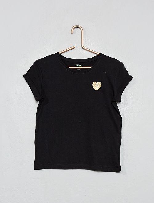 T-shirt cœur 'éco-conception'                                                                 noir