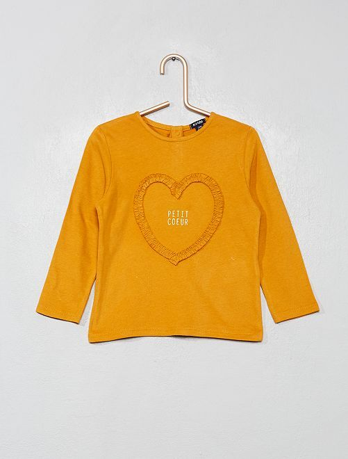 T-shirt 'cœur'                                                                 jaune