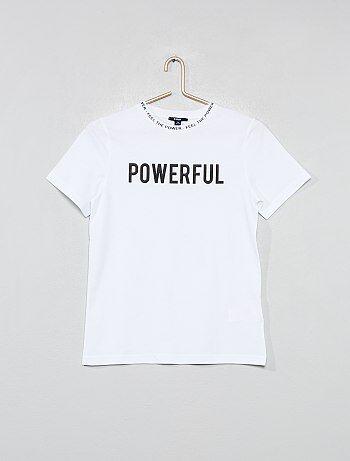 T-shirt col imprimé