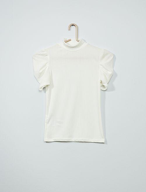T-shirt col montant                                         blanc