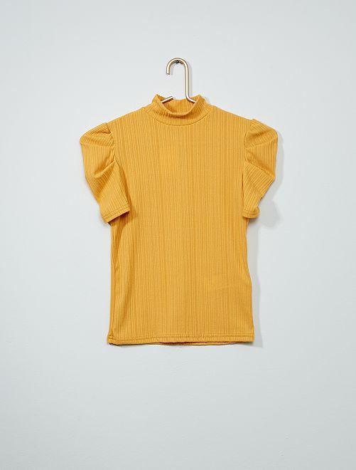 T-shirt col montant                                         jaune