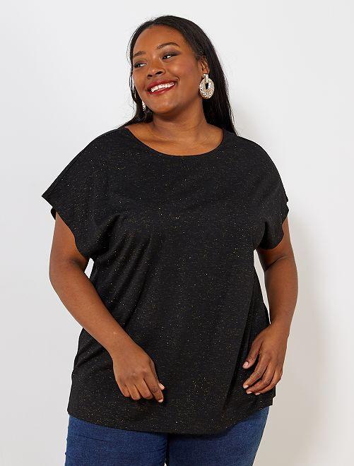 T-shirt col réversible                                                                 noir